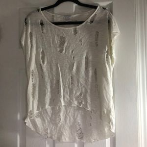 White Distressed Top!